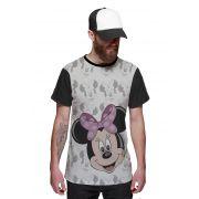 Camiseta Minnie Mouse Disney Rosa Of Whitte Rostinhos