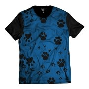 Camiseta Patinhas Animal Azul Pet Dog