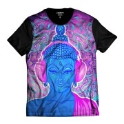 Camiseta Psicodélico Buda Rap Exclusiva Efeitos Music