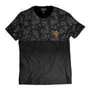 Camiseta Swag Degradê Preta Thug Nine Street Wear Cinza