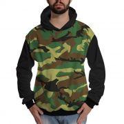 Blusa de Moletom Exército Camuflado Brasileira Verde