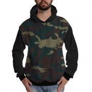 Blusa de Moletom Exército Camuflado Verde Personalizado