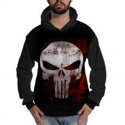 Blusa de Moletom The Punisher Justiceiro Caveira Blood Sangue