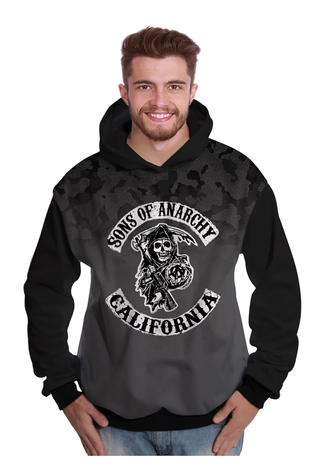 Blusa de Moletom Sons of Anarchy Motociclistas Samcro