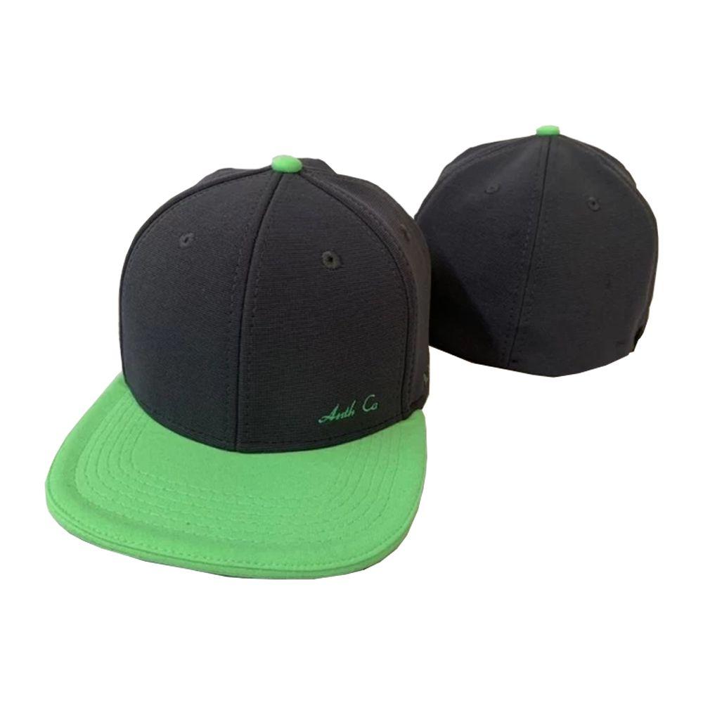 Boné Aba Reta Gorgurão Anorith Verde e Preto Anth Co