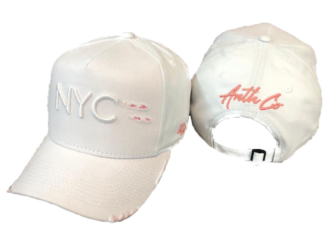 Boné NYC New York Anth Co Aba Curva Branco
