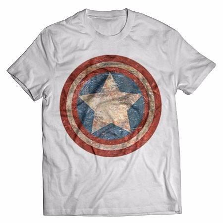 Camiseta Escudo Capitao America Swag Melhor Preco