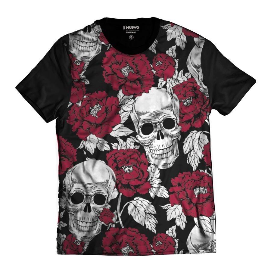2dc44ee5f5 Camisa Caveira Mexicana Rosas Florida Swag