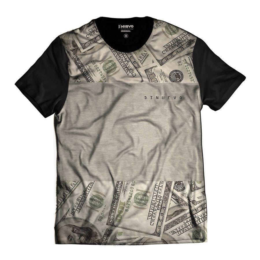 Camisa Dólares Americanos Dinheiro Estilo Thug Nine