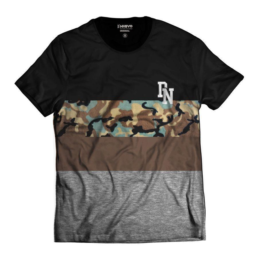 Camisa Militar StreetWear Camuflada Cinza