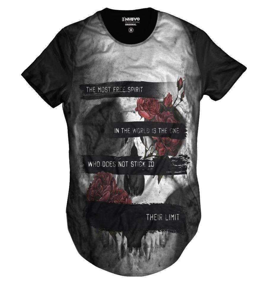23977e08e Camisa Swag Crânio Floral Rock Caveira Mexicana