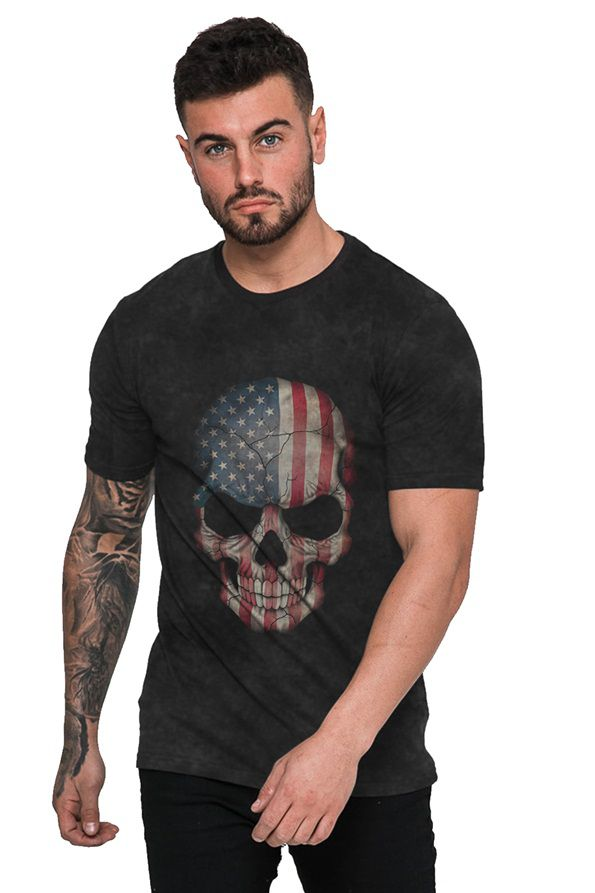 Camiseta American Skull Caveira Americana