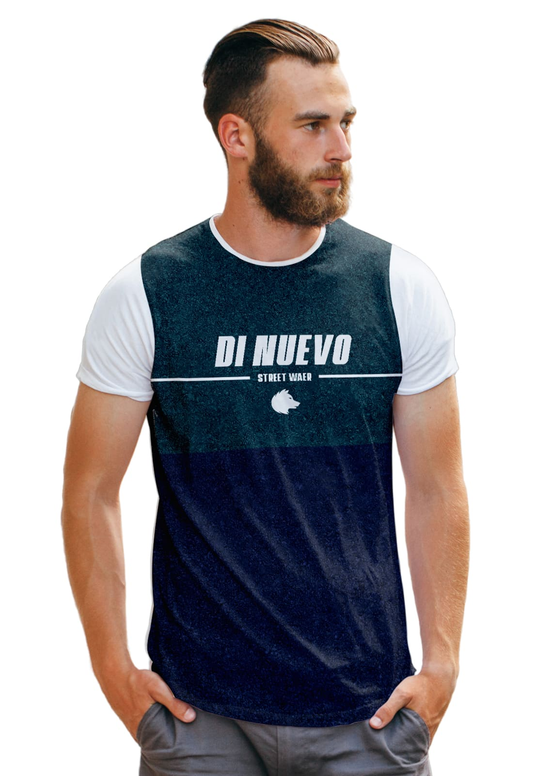 Camiseta Big Duo Verde e Roxo Di Nuevo Clothing