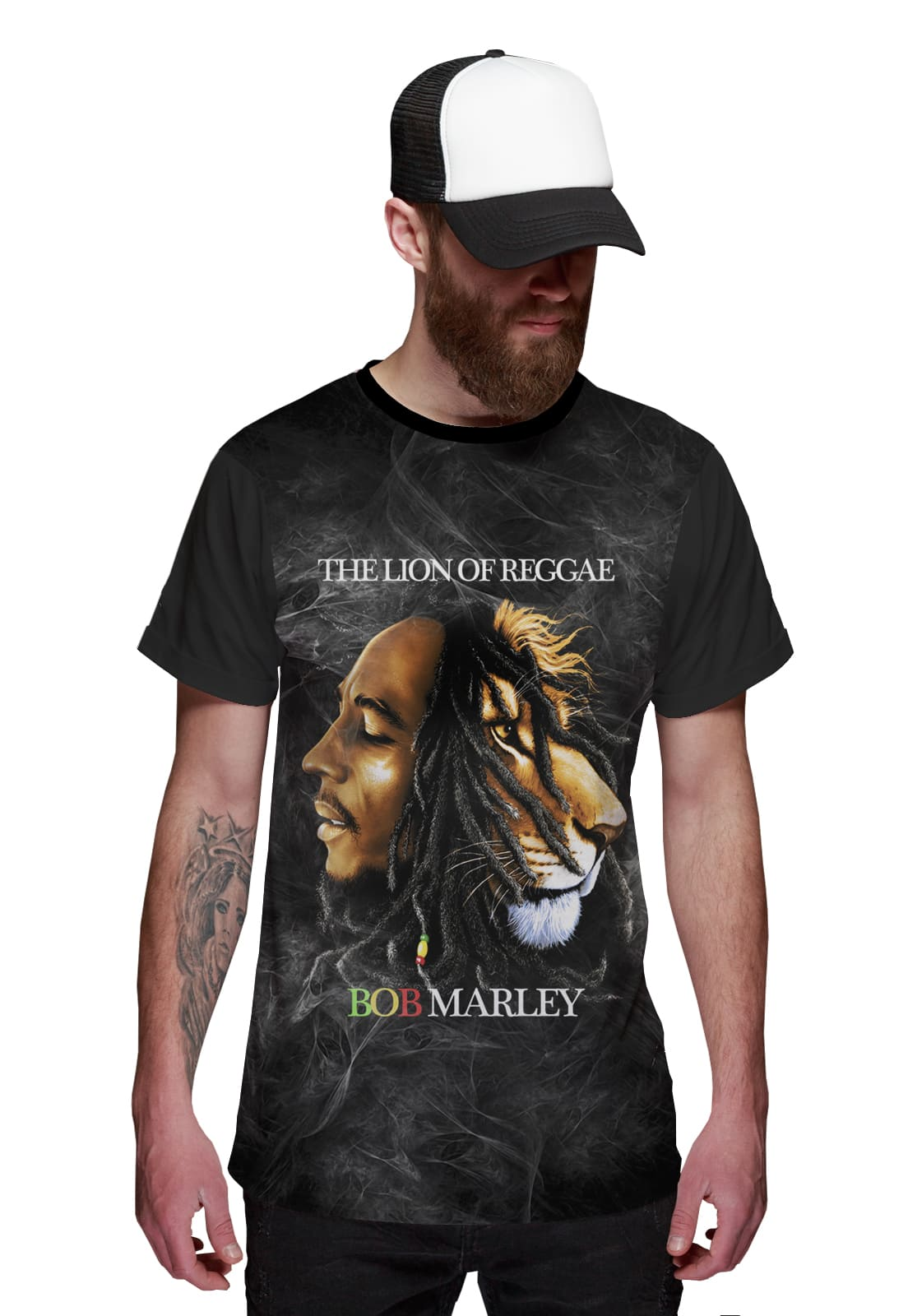 Camiseta Bob and Lion Reggae Music