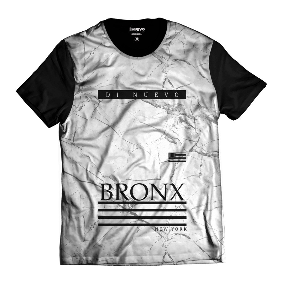 Camiseta Bronx Branca New York  Di Nuevo Street Wear Rap