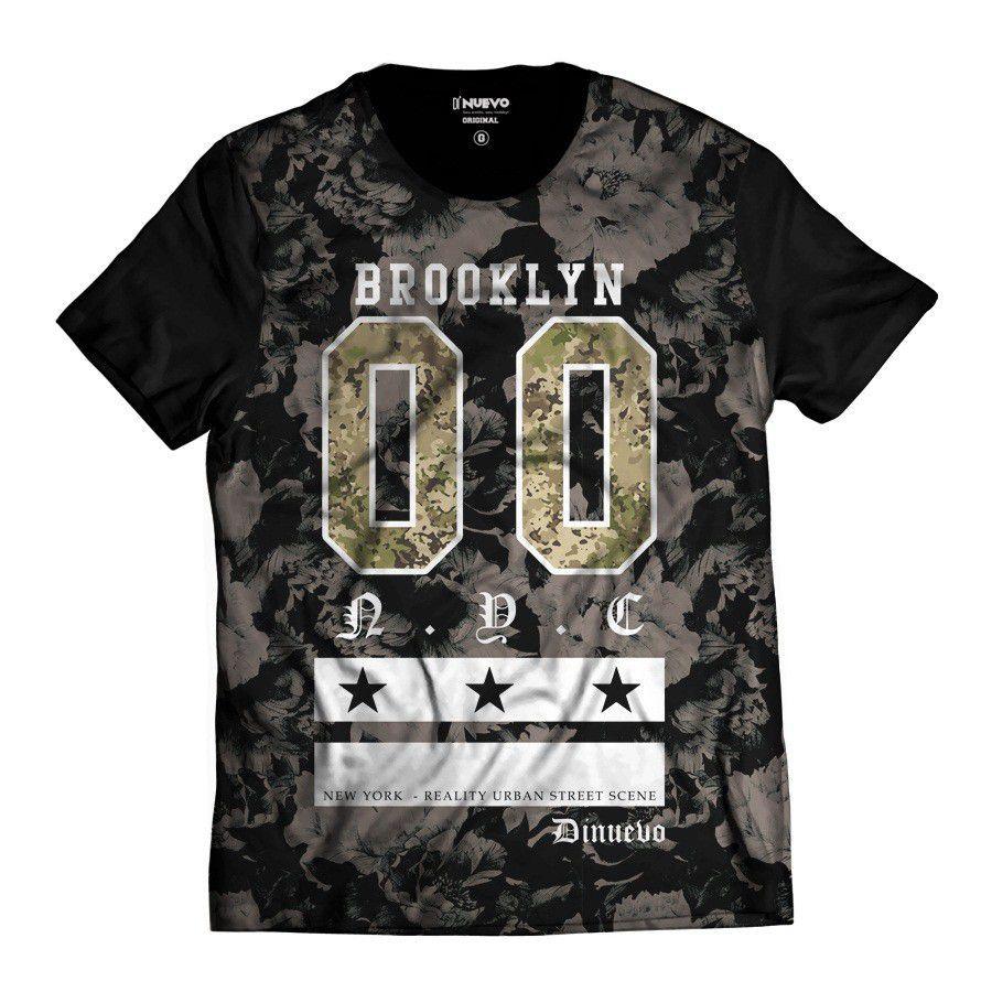 Camiseta Brooklyn Floral 00 Di Nuevo  New York Swag