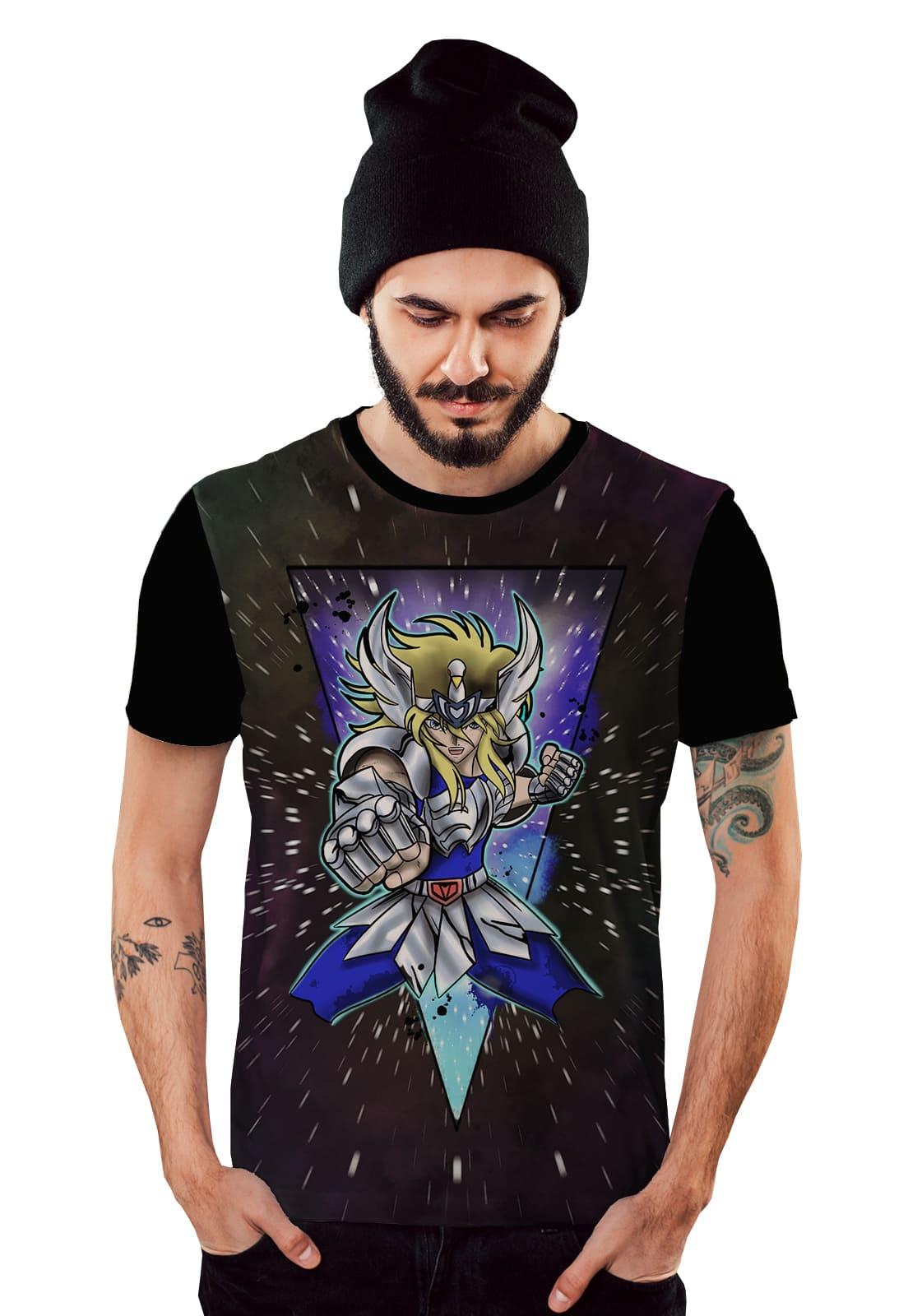 Camiseta Cavaleiro dos Zodiaco Hyoga