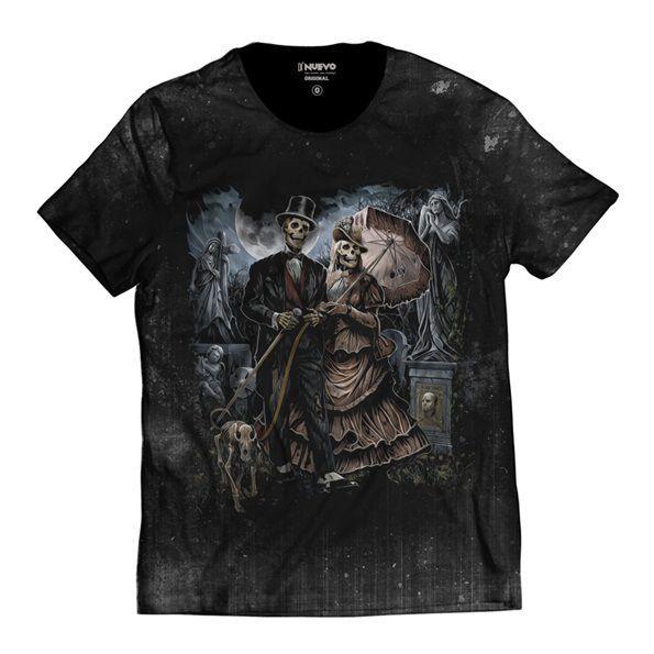 Camiseta Cemitério Caveira Mexicana