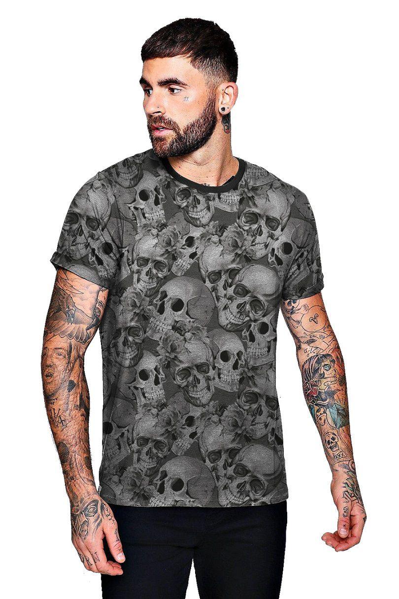Camiseta Coleção Crânios de Esqueletos