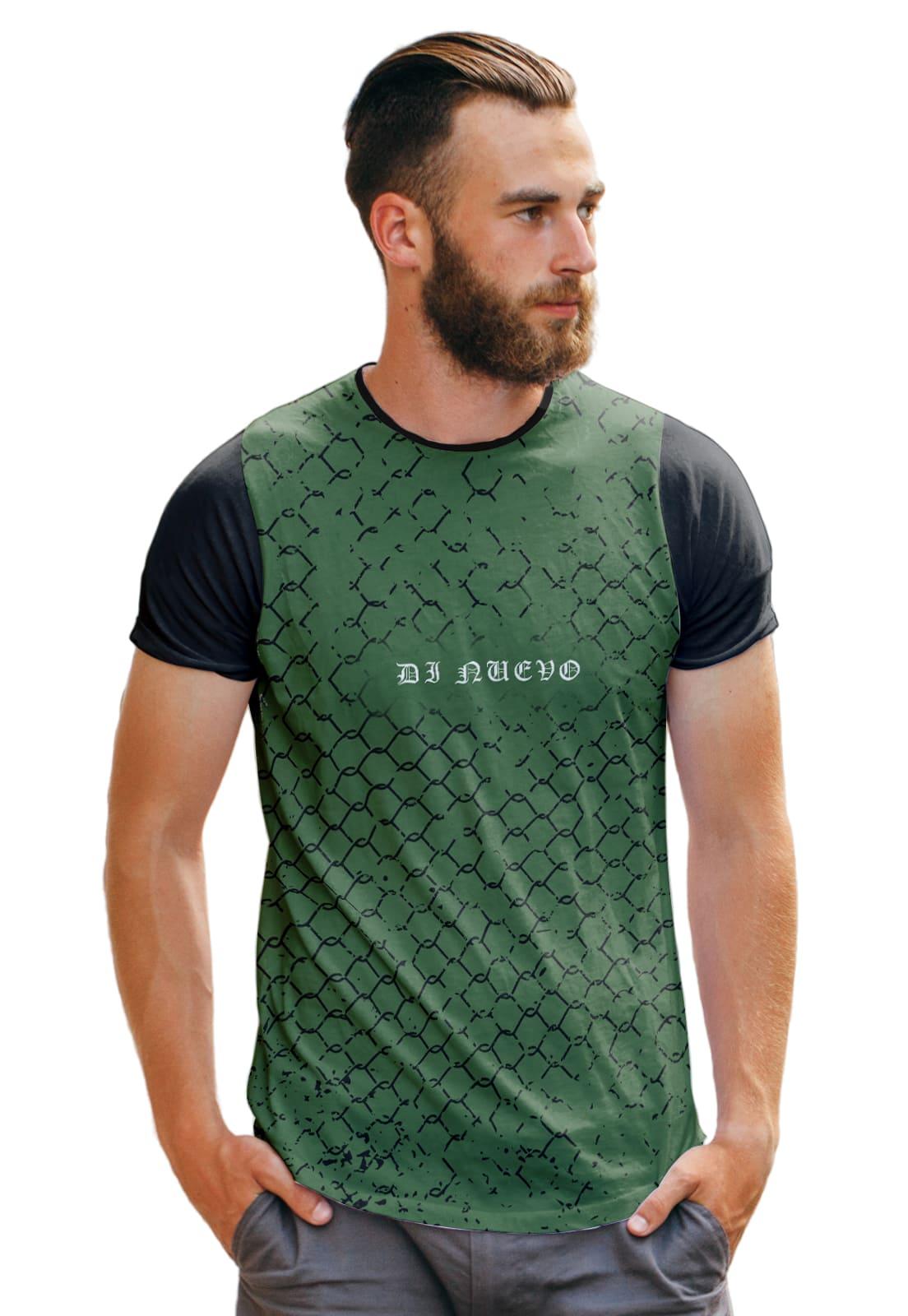 Camiseta Colméia Verde Geometric Style