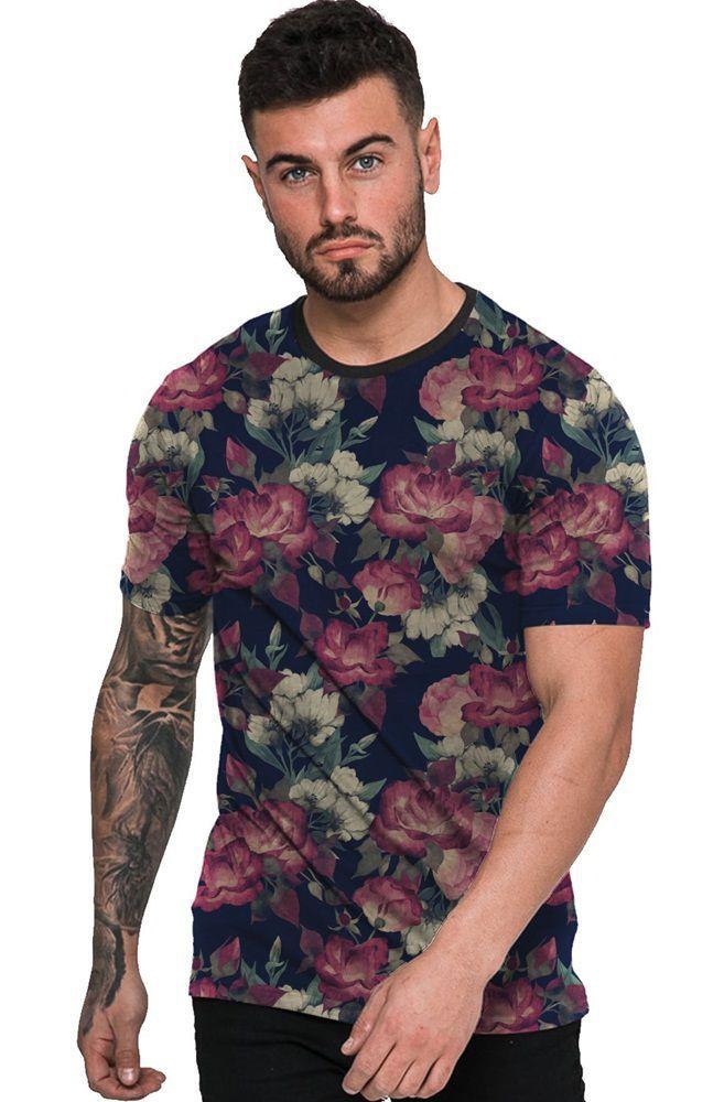 Camiseta Estampada Florida Masculina Floral
