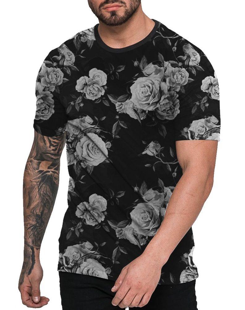 Camiseta Florida Preta Off White Black Floral