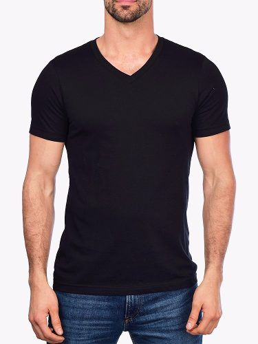 Camiseta Gola V Básica Lisa Moderna