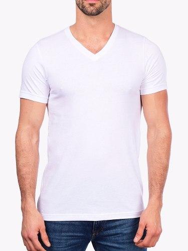 841f11285f Camiseta Gola V Básica Lisa Moderna