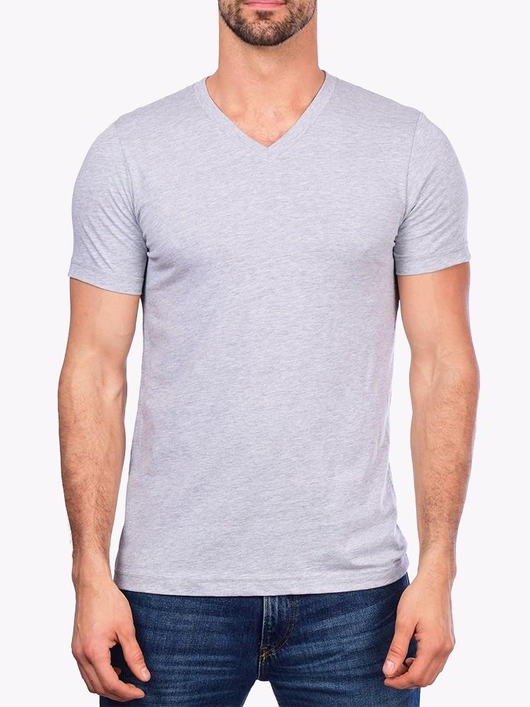 f146015879 Camiseta Gola V Básica Lisa Moderna