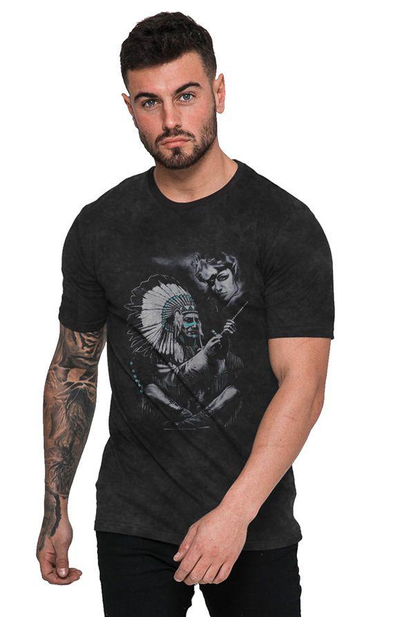 Camiseta Índio Cacique com Espingarda
