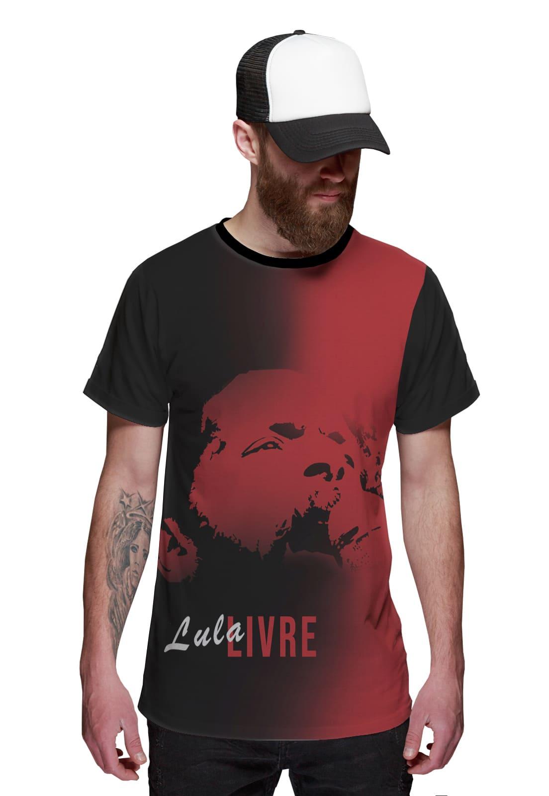 Camiseta Lula Livre Presidente PT 13