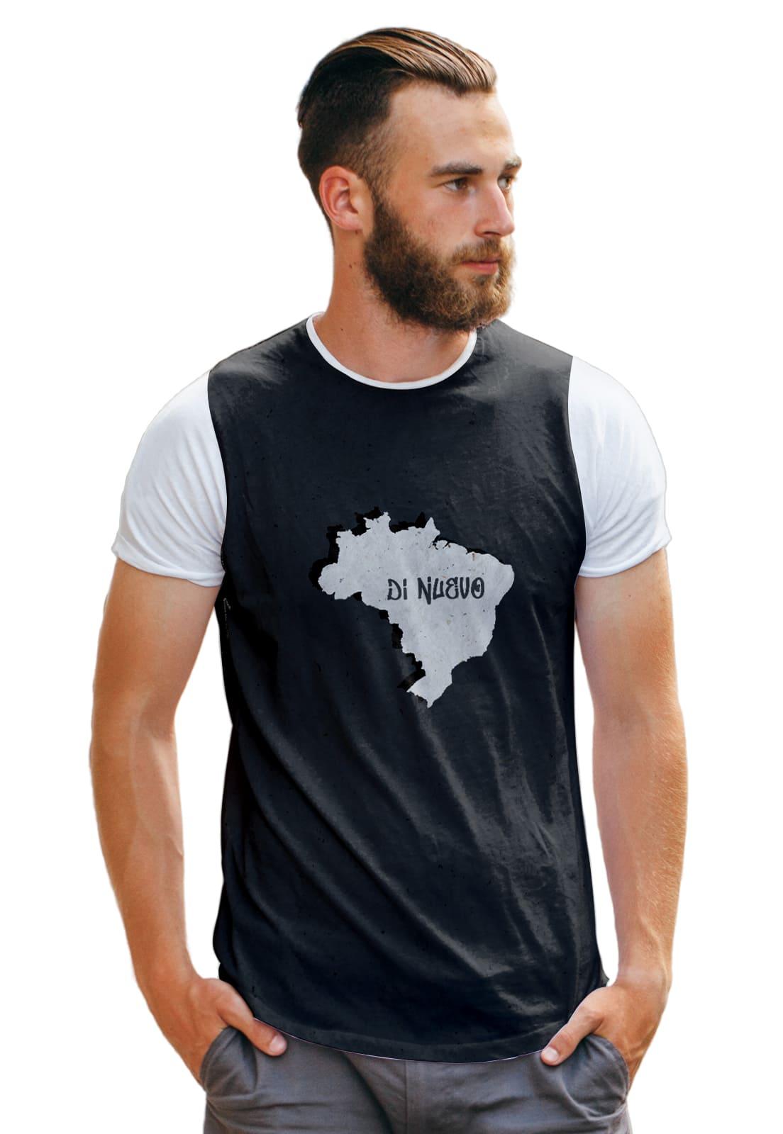 Camiseta Mapa Brasil Patriot Di Nuevo