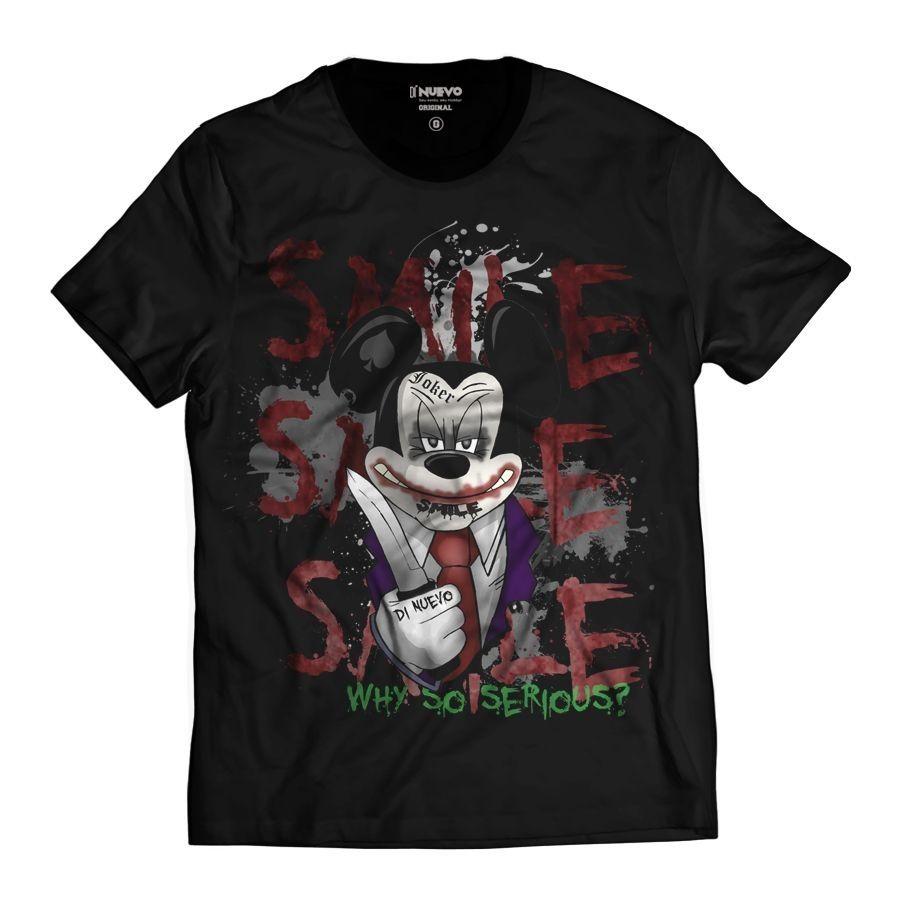 Camiseta Rato Estilo Criminoso Joker Assasin Swag