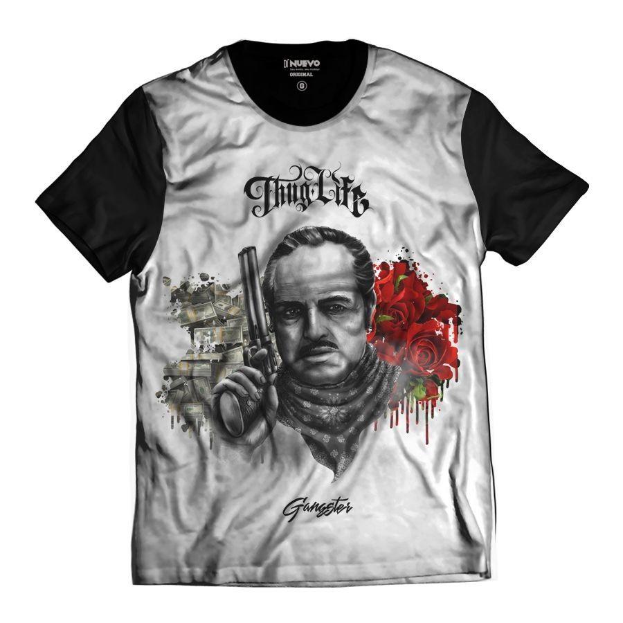 Camiseta Poderoso Chefão Gangster Thug Life GodFather