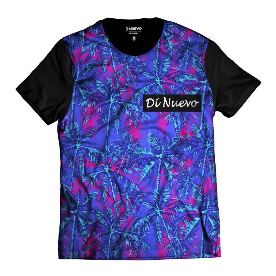 Camiseta Palmeiras Havaianas Di Nuevo Azul e Rosa Tropical fc7de49facb44
