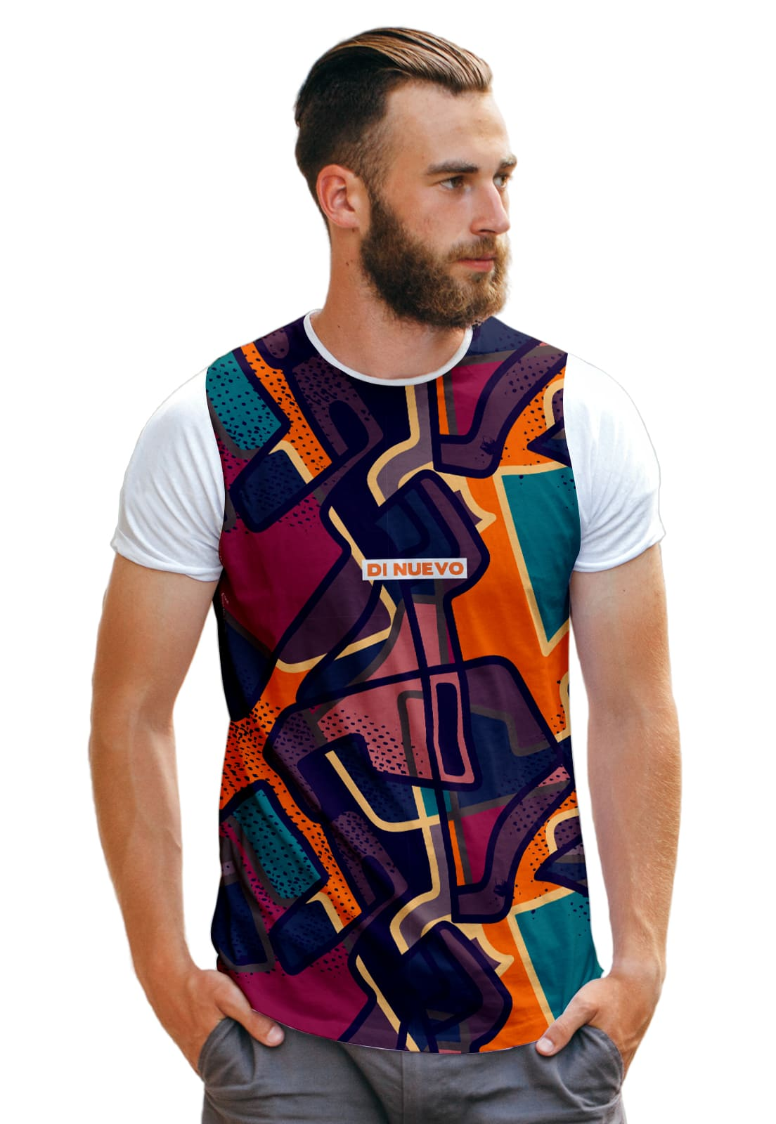 Camiseta Picasso Art Abstract Colorful Di Nuevo