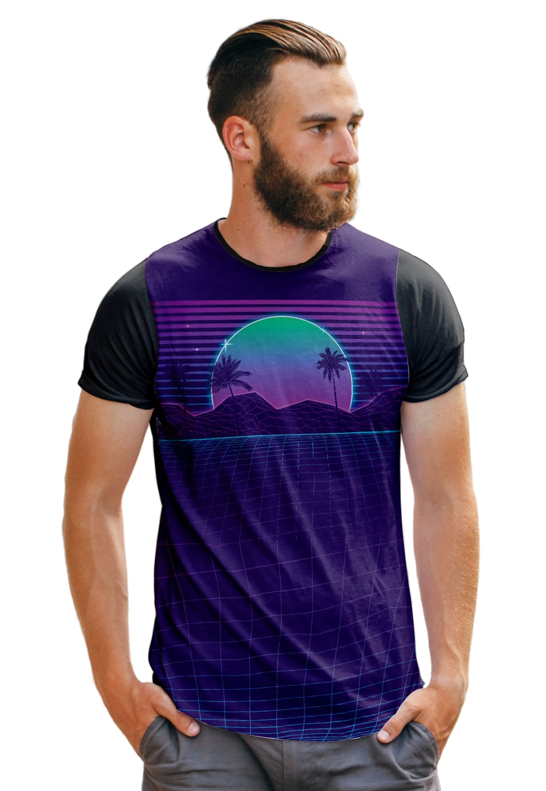 Camiseta Purple Califórnia Beach T Shirt