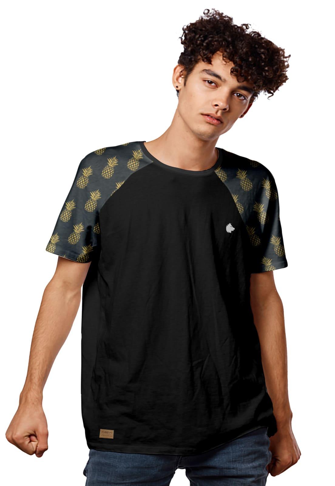 Camiseta Raglan Abacaxis Padrão Pineapple