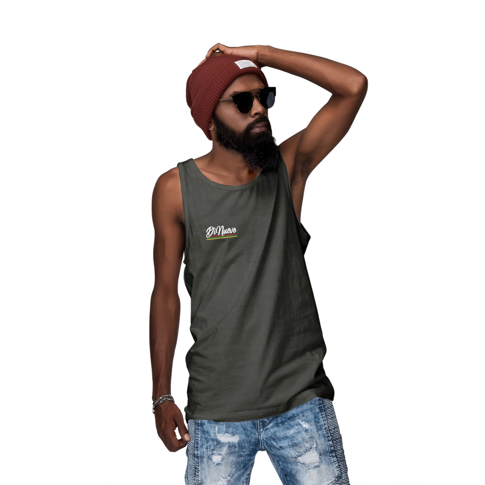 Camiseta Regata Masculina Di Nuevo Listras Reggae