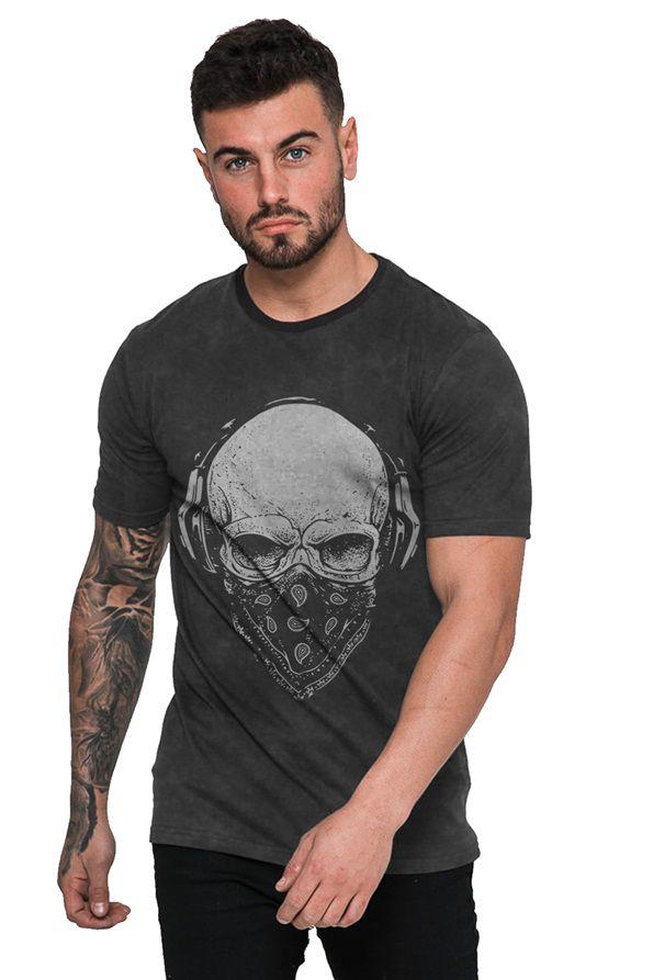 Camiseta Rock Caveira com Bandana