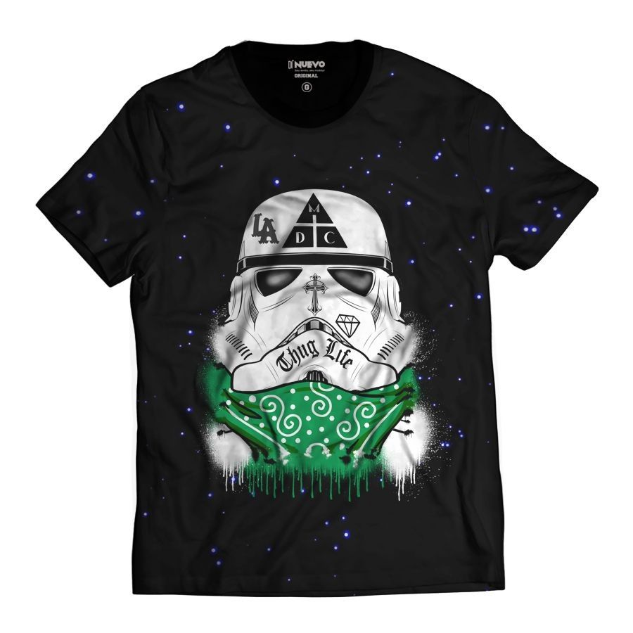 53b614b1e1 Camiseta Star Wars DMC Stormtrooper Damassaclan Thug Life