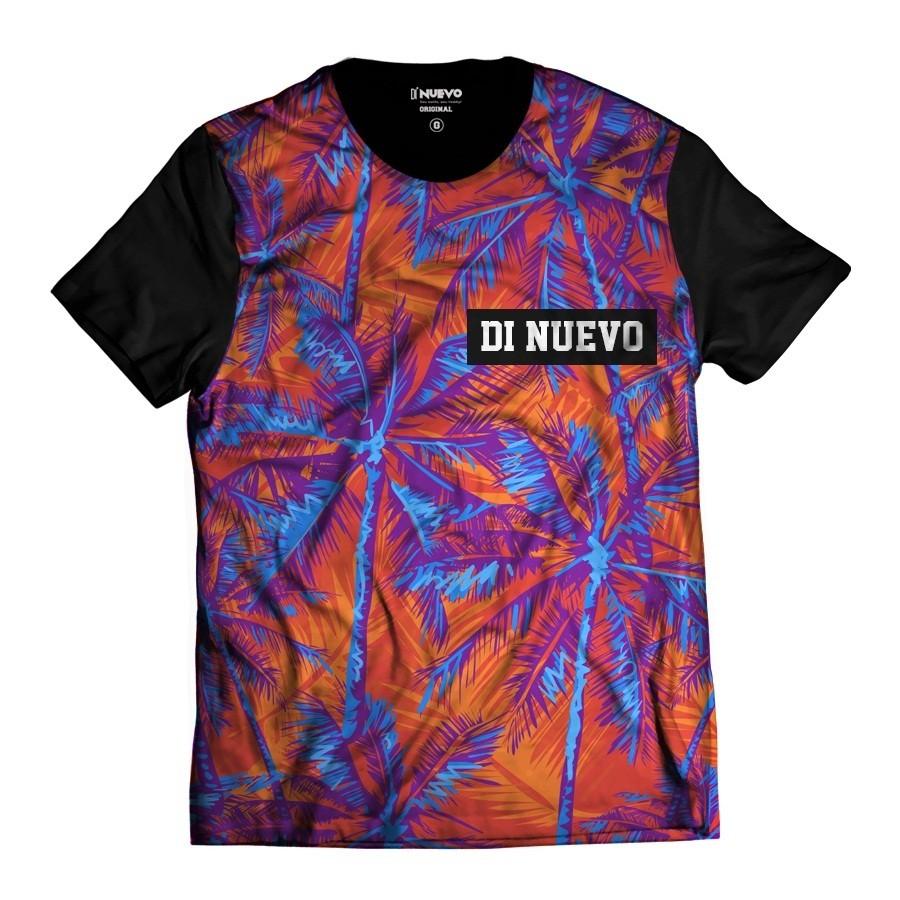 Camiseta Laranja e Azul Palmeiras Havaianas Di Nuevo