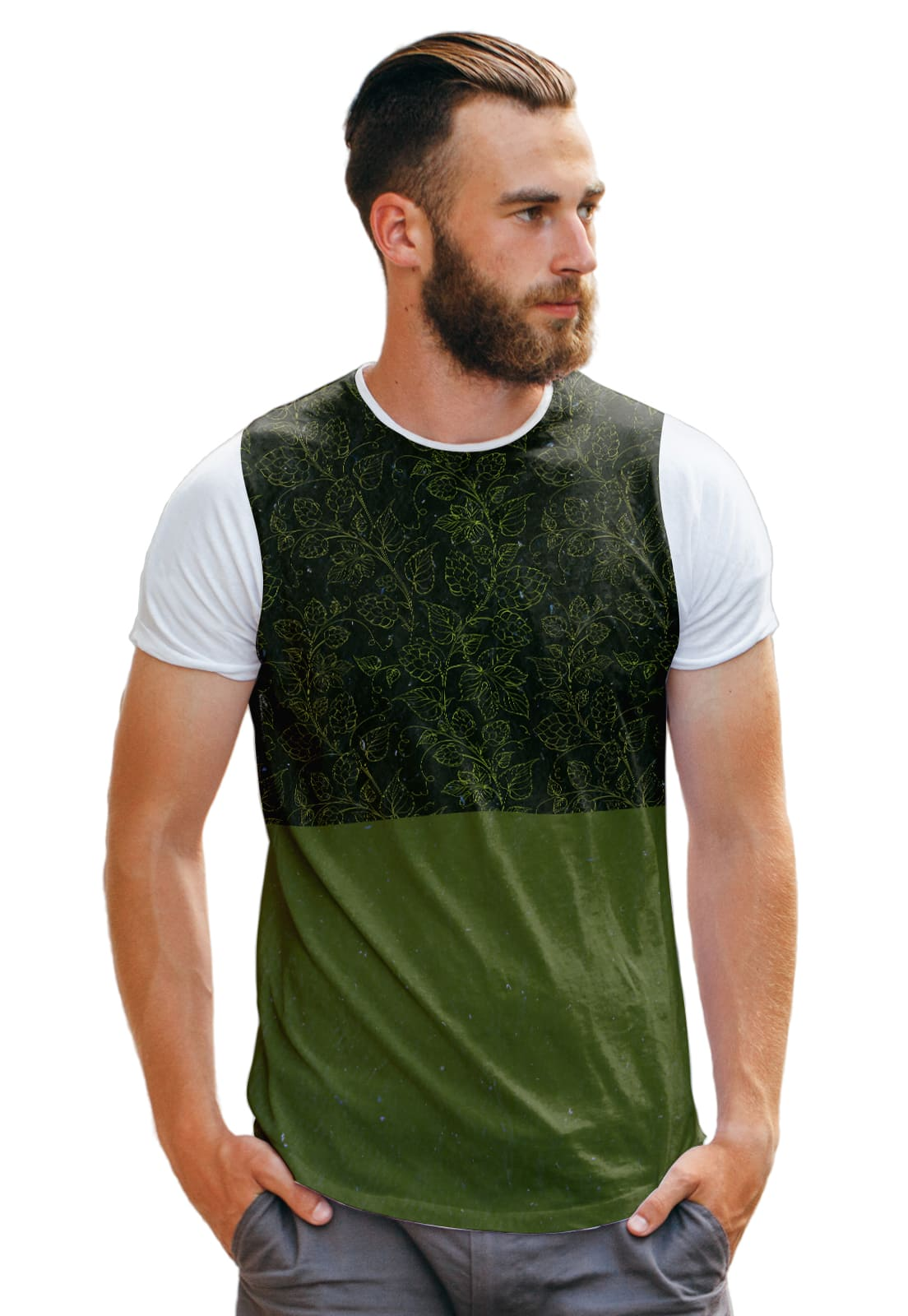 Camiseta Verde Lupulo Green Collection Masculina