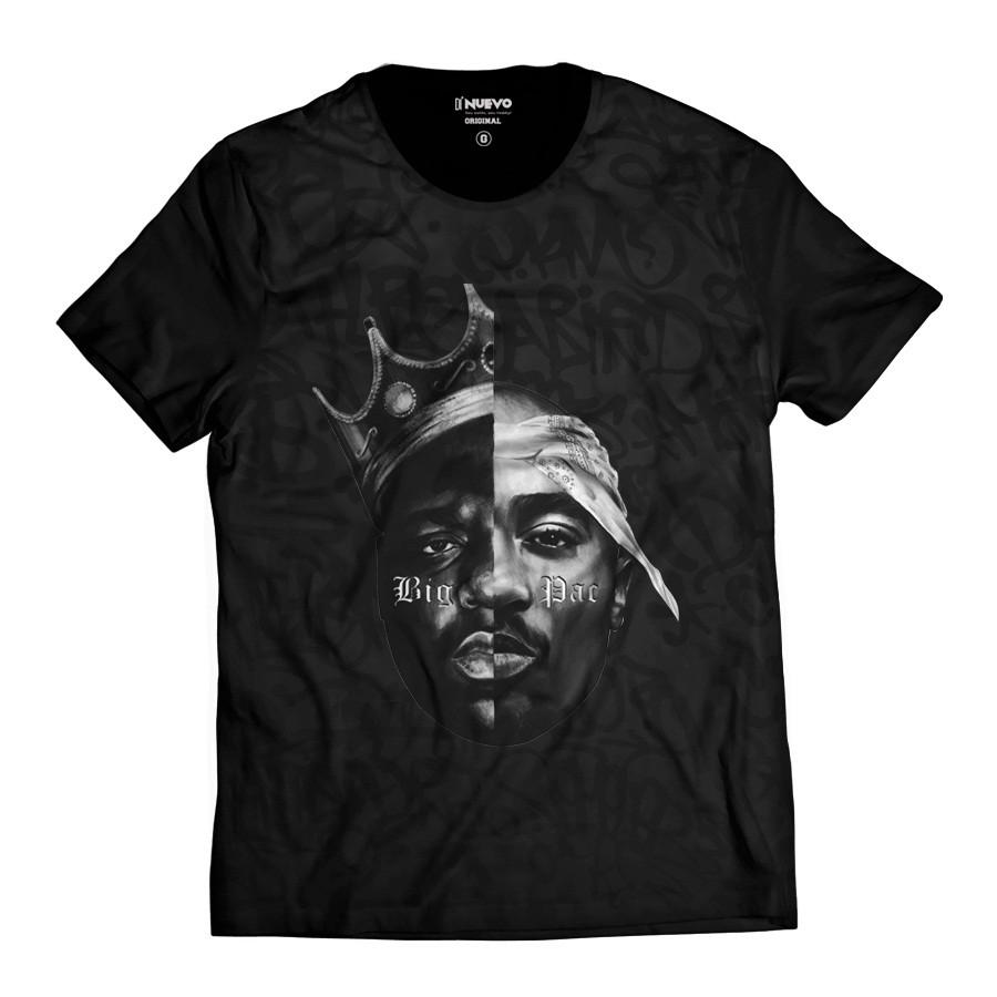 Camiseta Tupac Shakur 2pac Black Style Swag