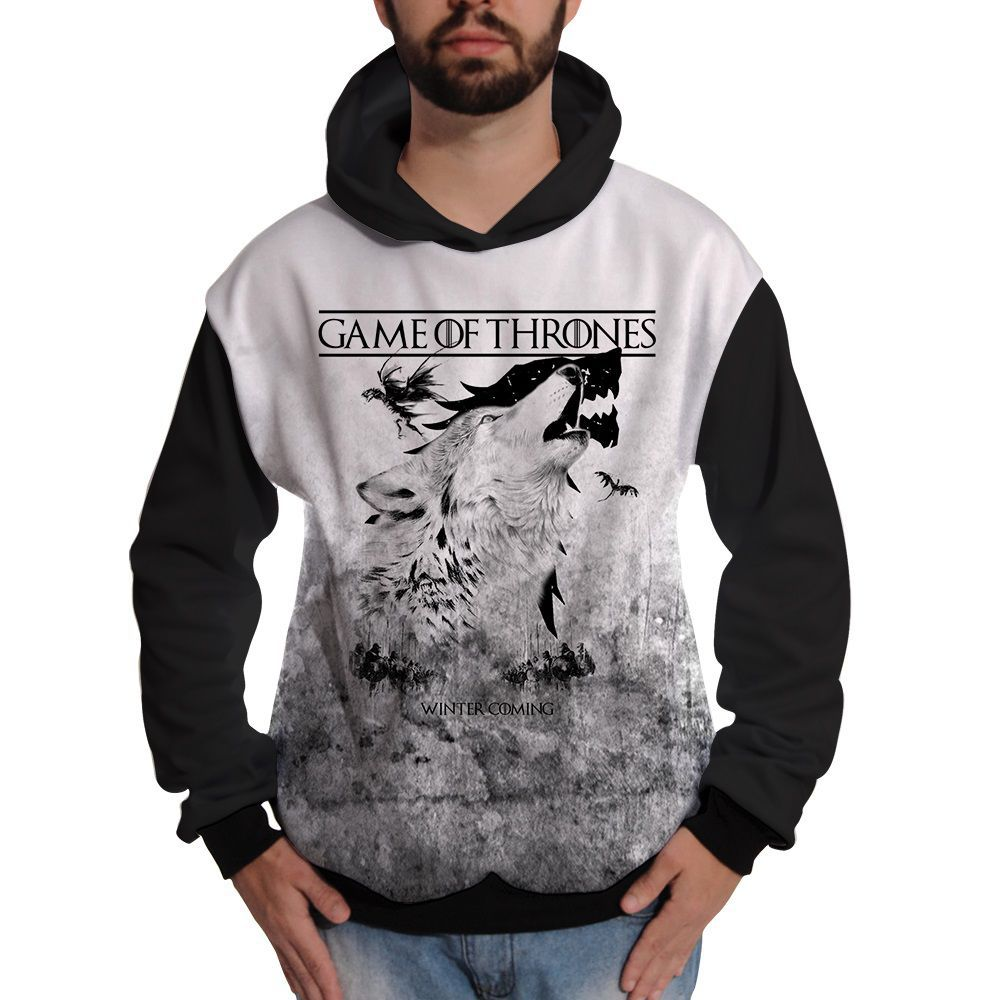 Blusa de Moletom GOT Game of Thrones Winter Coming