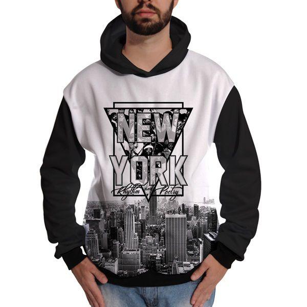 3348dc0d0889f7 Blusa de Moletom New York Rappers Hip Hop NY Exclusiva