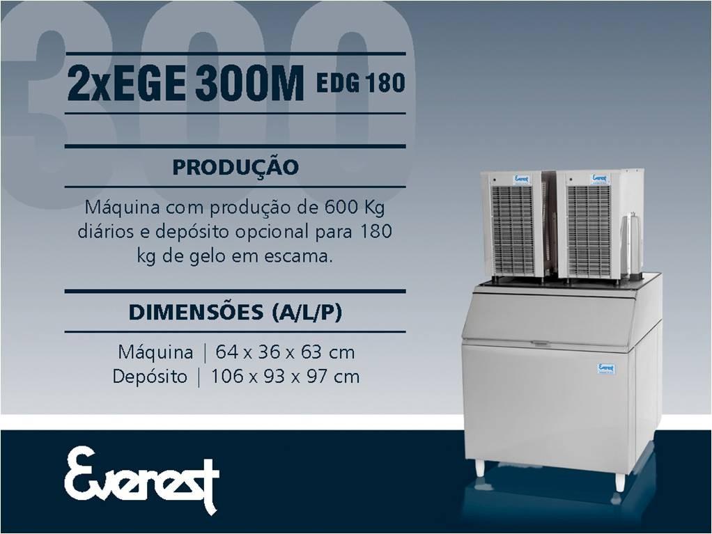 Máquina de gelo em escama EGE 600 M/180 (Produção 692 KG/Dia)