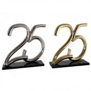 25 em bronze ou alumínio