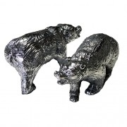 Urso Wall Street em alumínio maciço