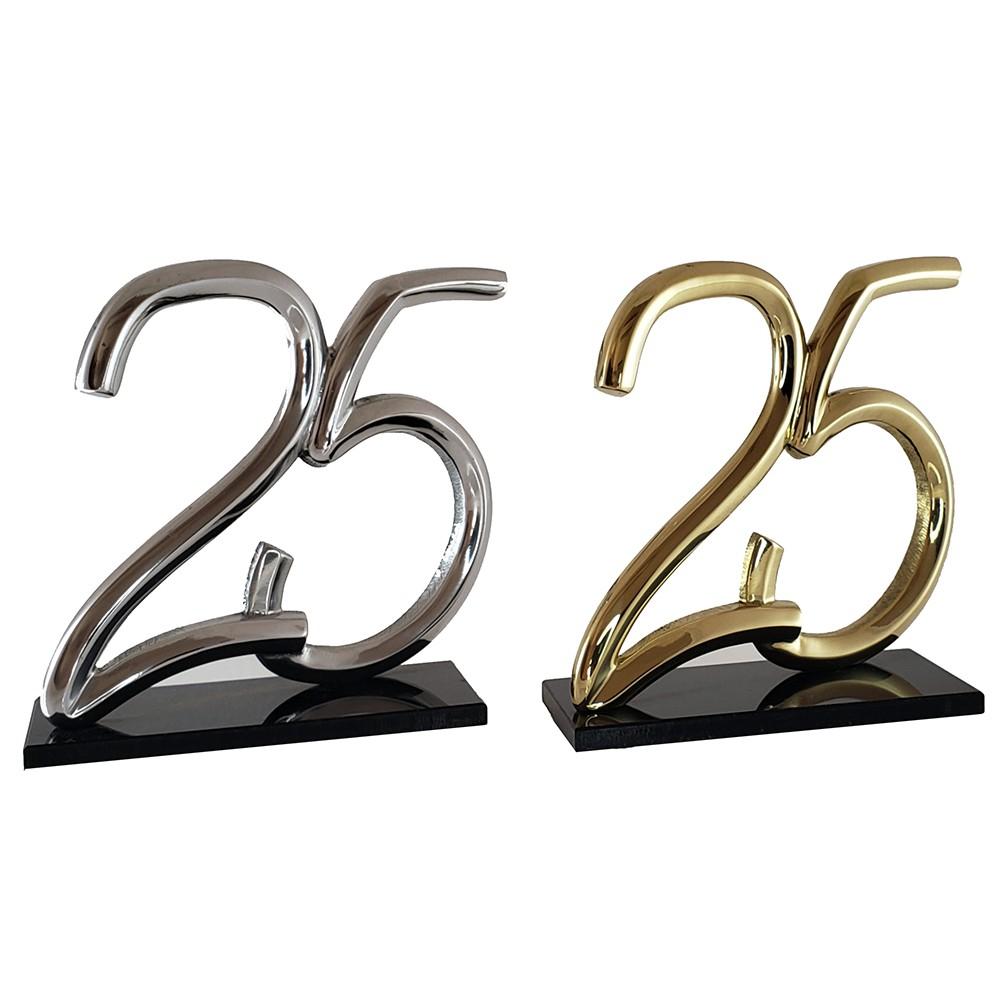 25 em Alumínio ou Bronze